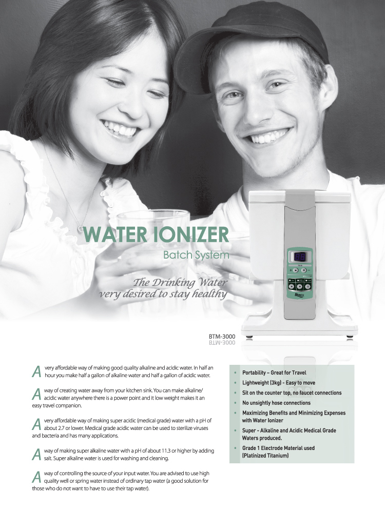 Water Ionizer Batch System Biontech